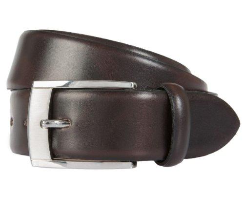 LLOYD Leder-Gürtel dunkelbraun, Länge:100 cm