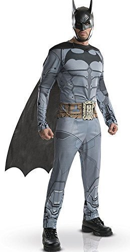 ham Franchise DC Comics Batman Superheld Halloween Kostüm Kleid Outfit S-XL - grau, Large (Dc-halloween-kostüme)