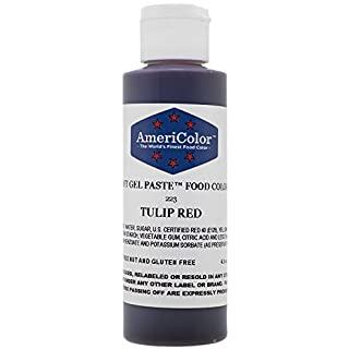 Paint into dough AmeriColor SoftGel TULIP RED 133ml