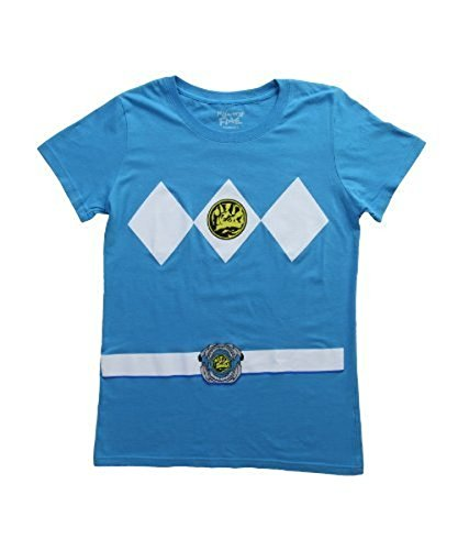 anger Kostüm Turquoise blau Junior T-Shirt (Junior X-Large) (Power Ranger Kostüm Frauen)
