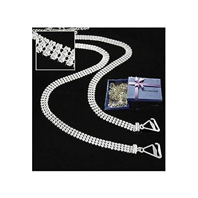 Luxury 3 Rows Crystal Adjustable Diamante Bra Straps- Diamonte
