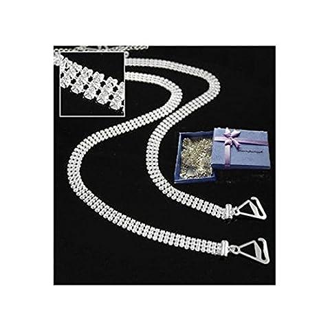 StunningBoutique Swarovski Crystal clear Bra Straps comes in A