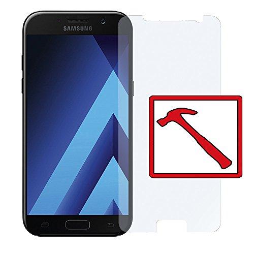 2 x Slabo PREMIUM Panzerglasfolie passend für Samsung Galaxy A5 (2017) SM-A520F Echtglas Bildschirmschutzfolie Schutzfolie Folie (verkleinerte Folien, aufgr& Wölbung) Tempered Glass - 9H Hartglas