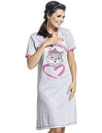 Zeta Ville - Camisón lactancia premamá cartoon estampado - para mujer - 892c