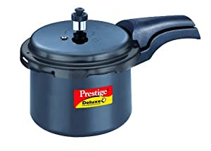 Prestige Deluxe Plus Hard Anodized Outer Lid Pressure Cooker, 3 Litres, Black