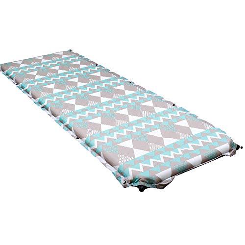 STAZSX Automatisches aufblasbares Kissen der doppelten Steuerung, Campingzeltfeuchtigkeitsauflage, Picknickkissen, spleißende Schlafmatte mit 3 Farben @ Grey_183 * 62 * 2cm -