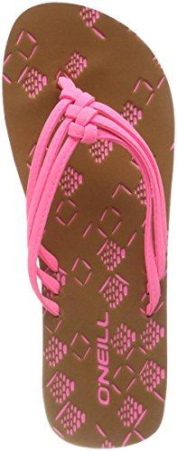 O'Neill Damen FW 3 Strap Ditsy Flip Flops Zehentrenner, Pink (4091 Shocking Pink), 38 EU