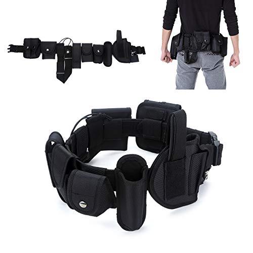 YAHILL® Polizei Security Taktischer Gürtel Militär Koppel Combat Tactical Police Belt Gear Nylon Heavy Duty, oder Handschellen-Halfter - Pager-holster