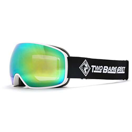 Two Bare Feet Summit XS auswechselbarem Objektiv Snow Skibrille White / Revo Green XS