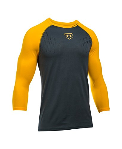 Under Armour UA baseball EXCLUSIVE190; manica Stealth Gray/ Steeltown Gold/ Steeltown Gold