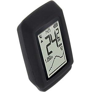 foto-kontor Funda para Sigma Pure GPS Protectora Silicona Carcasa protección Negra