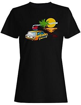 Ford mustang el día de fiesta divertido vintage arte camiseta de las mujeres vv47f