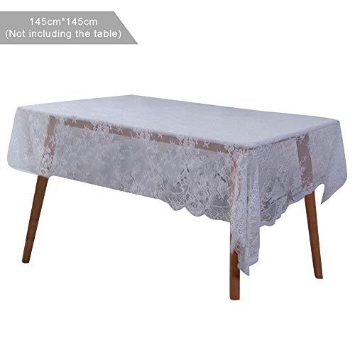 Schwarze und weiße Wimpernspitze Tischdecke Tischdecke Mehrzweck Abdeckung nordischen Stil quadratischen Kunst Buch Tischdecke Tischdecke