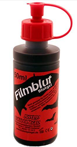 Eulenspiegel Profi-Schminkfarben, Filmblut/Blutgel, dunkel, 1er Pack (1 x 50 ml) (Halloween Für Machen Fake-blut)