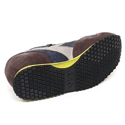 B8637 sneaker uomo DIADORA HERITAGE TRIDENT S SW marrone/blu shoe man Marrone/Blu