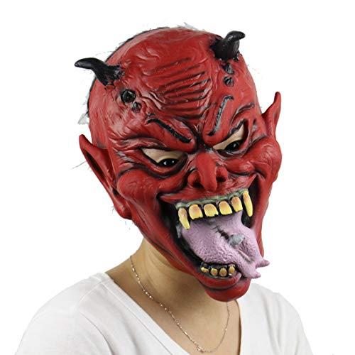 Latex-Maske Für Halloween, Ghost-Face-Maske, Horror-Monster-Maske, Prank-Maske Gesicht Beängstigend -