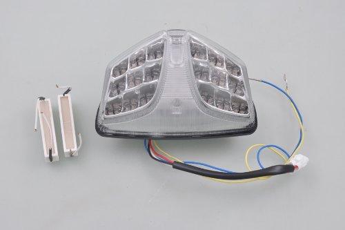 wotefusi Moto Injection LED Tail Clignotant Lumière pour Suzuki Gsx-R 600 2008