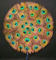 Peacock Feather Fan for Deity Worship