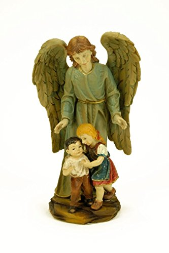 Figura Decorativa Religiosa' Ángel de la Guarda'.12 Ø x 22 cm.