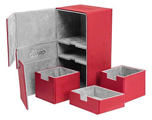 Ultimate Guard UGD010382 - Twin Flip und Tray Deck Case 200+ Standardgröße Xeno Skin, rot (Twin Deck Case)