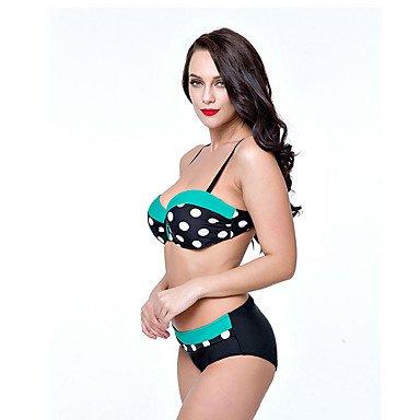 Damen Bikinis - Punkt Elasthan Riemchen Pink