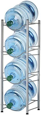 4-Tier Water Bottle Holder Shelf Cooler Jug Rack, Detachable Heavy Duty Water Bottle Cabby Rack, 5 Gallon Wate
