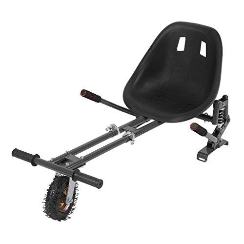 """Hoverboard Sitz CIMIVA Hoverkart für alle hoverboards und Scooter (6,5\"""" / 8.0\"""" / 10\"""") Hoverboard Aufsatz verstellbar Hoverseat mit Stoßdämpfer,GoKart verstellbar,Kohlenstoffstahl (Schwarz)"""
