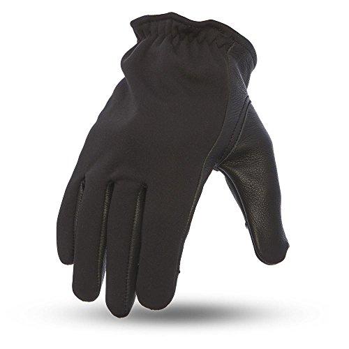 First Manufacturing Men' s 2Tone Roper moto in pelle guanti touch Tech (neoprene/nero, taglia: XXXL), 1confezio