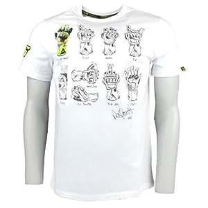 valentino rossi vr46 gagnant gant moto gp t shirt blanc. Black Bedroom Furniture Sets. Home Design Ideas