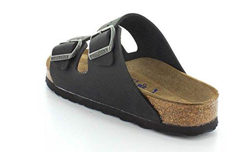 Birkenstock Arizona 252743, Unisex - Erwachsene Clogs & Pantoletten aus Birko-Flor Black Oiled Leather Sfb