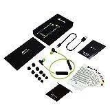 KLIM Pulse Bluetooth 4.1 In-Ear Kopfhörer 2019 Version Kabellose Kopfhörer – Geräuschreduzierung – Perfekt für Sport, Musik, Anrufe, Gaming - Magnetisch Memory Schaum Ohrstöpsel Grün - 5