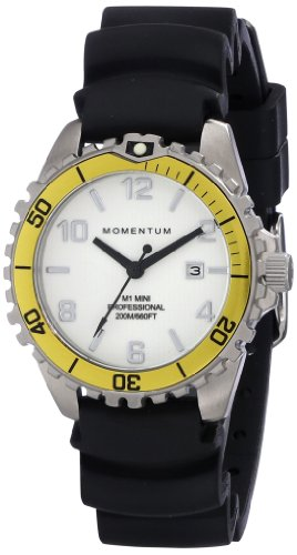 Momentum Women's 1M-DV07WY1B M1 Silver-Tone Watch with Black Band