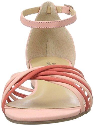 Shoe Biz Wedge, Sandali con Zeppa Donna Rosa (Nubuk Fuchsia Comb)