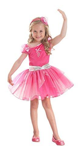 Fuchsiafarbenes Barbie™ Ballerina-Kostüm für Mädchen - 3-5 Jahre (Ballerina Kostüm Teile)