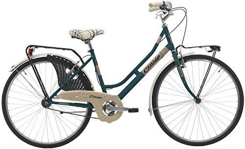 26 Zoll Damen City Fahrrad Cinzia Friendly, Farbe:grün
