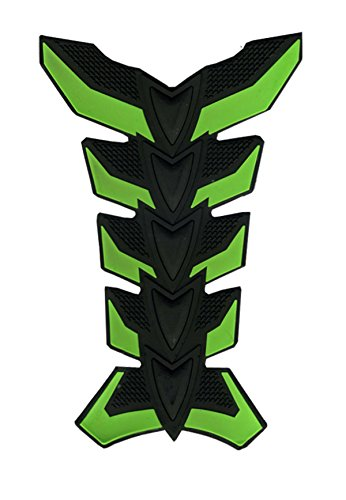 Preisvergleich Produktbild Grüne Motorrad Aufkleber Tank-Racing 3D Gummi-Schutz-Fiber Gas Pad Aufkleber für Honda BROS (NT400J K K2 L L2) 1988-1990