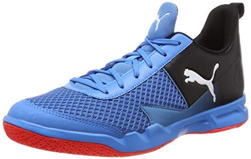 Puma Unisex-Erwachsene Rise XT 4 Multisport Indoor Schuhe, Blau (Bleu Azur-Red Blast Black), 39 EU