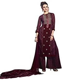 Rose Petals Fully Stitched Printed Cotton Plazo Sets For Women, Plazo For Women With Printed Chiffon Dupatta (...
