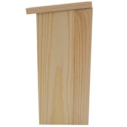 PROHEIM Nistkasten Compact 4er Pack 22 x 9 x 10 cm aus FSC Holz Nisthaus perfekt für Meisen Kohlmeisen Kleiber Rotschwänzchen und weitere Vogelarten Vogelnistkasten - 4