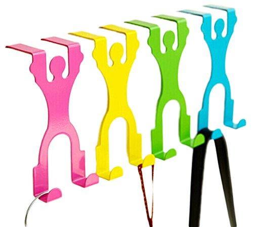 Nikgic 4 piezas creativos humano estilo Puerta perchas