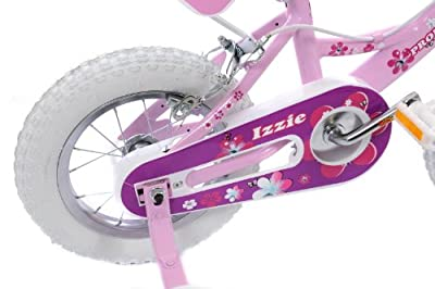 "Izzie Girls 12"" Wheel Pink Bike Dolly Seat, Stabilisers & Matching Helmet Age 3+ from Professional"