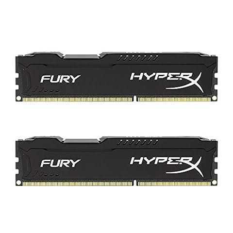 HyperX Fury HX316C10FBK2/8 Arbeitsspeicher 8GB (1600MHz, CL10, 2x 4GB) DDR3-RAM Kit schwarz (3 Modul Kit)