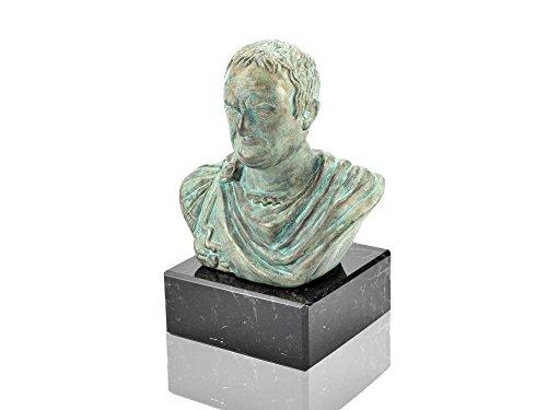 Vespasian Büste römische Kaiser - Forum Traiani - Kaiserbüste bronziert mit Marmorsockel (Statue Gladiator)