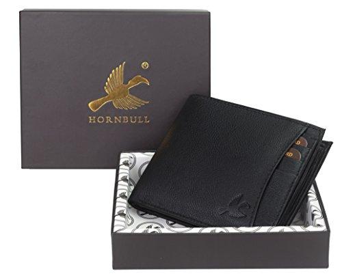 Hornbull Men's Themes Geuine Leather RFID Wallet