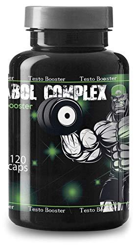 Anabol Complex Testosteron Booster By VargPower | 120 Muskelaufbau Kapseln | Natürlicher Testo Ersatz für Anabolika Steroide | Unterstützt Muskelzunahme Libido | Kur für Männer Bodybuilder