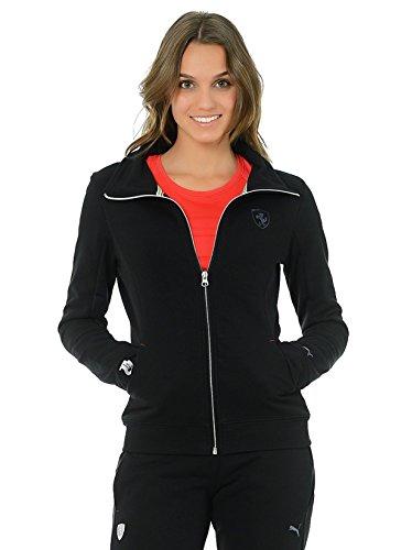 Puma Ferrari Lifestyle Damen Zip Hoodie Jacke (Schwarz, XS - 8) Athletic Zip-front Sweatshirt