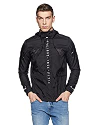 Jack & Jones Mens Nylon Jacket (1976853004_Black_X-Large)