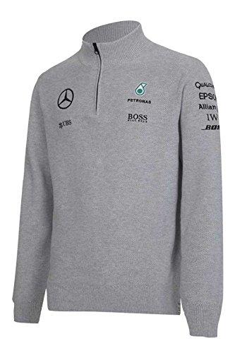 29b4ecbd72326a Mercedes AMG Petronas F1 Mens Half Zip Knitted Jumper 2017 XL