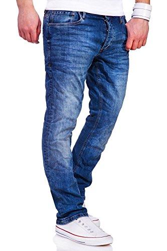Jack & Jones Jeans Straight CLARK Hose [Blau, W32/L36]