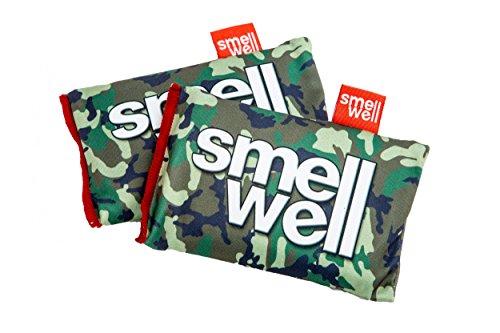 SMELLWELL® DUFTSÄCKCHEN / DUFTBEUTEL 2er-/4er-/8er-Pack (Geruchs- und Feuchtigkeitsabsorbierend Bakterientötend ohne Bakterizide Umweltfreundlich), SmellWell:SmellWell 1 Green Camouflage